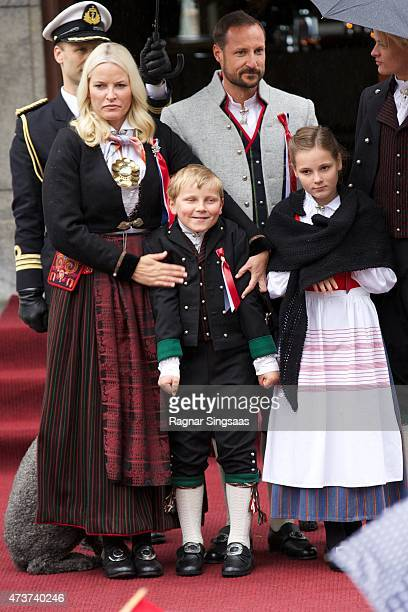 Crown Princess MetteMarit of Norway Prince Sverre Magnus of Norway and Princess Ingrid Alexandra of Norway Celebrate National Day In Asker on May 17...