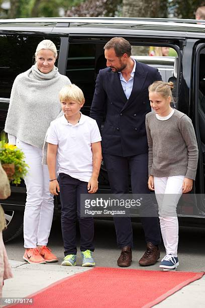 Crown Princess MetteMarit of Norway Prince Sverre Magnus of Norway Crown Prince Haakon of Norway and Princess Ingrid Alexandra of Norway Attend The...