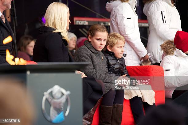 Crown Princess MetteMarit of Norway Princess Ingrid Alexandra of Norway and Prince Sverre Magnus of Norway attend the Save The Children's Peace Prize...