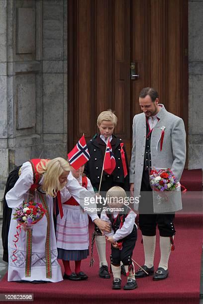 Crown Princess MetteMarit of Norway Princess Ingrid Alexandra of Norway Marius Borg Hoiby Prince Sverre Magnus of Norway and Crown Prince Haakon of...
