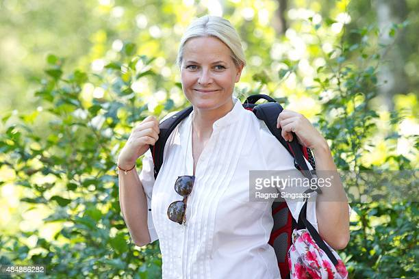 Crown Princess MetteMarit of Norway takes part in Climate Pilgrimage on August 22 2015 in Halden Norway