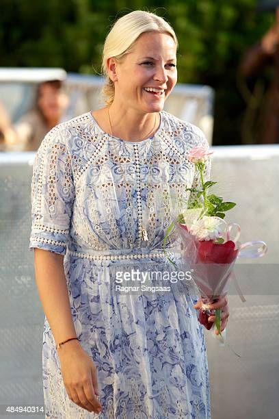 Crown Princess MetteMarit of Norway takes part in Climate Pilgrimage on August 22 2015 in Stromstad Sweden