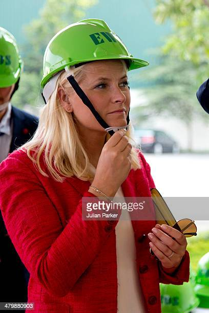 Crown Princess MetteMarit of Norway visits the EWOS Factory by the Mekong Delta during day 3 of an official visit to Vietnam on March 21 2014 in Ho...