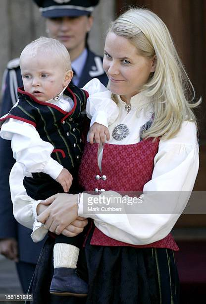 Crown Princess MetteMarit Prince Sverre Magnus Attend The Norway National Day Celebrations In Skaugum