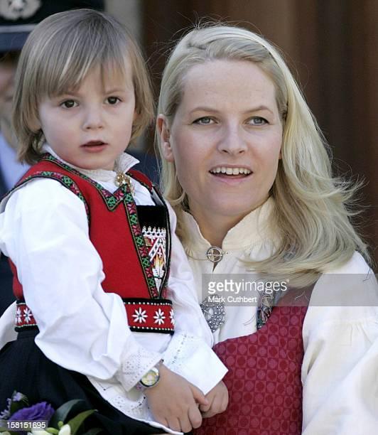 Crown Princess MetteMarit Princess Ingrid Alexandra Attend The Norway National Day Celebrations In Skaugum