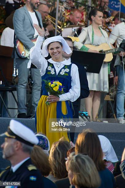 Crown Princess Victoria and Prince Daniel attends National Day Celebrations at Djurgarden on June 6 2015 in Stockholm Sweden