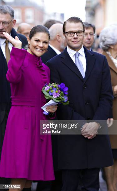 Crown Princess Victoria And Prince Daniel Of Sweden Arrive At The 200Th Bernadotte Anniversary Celebrations In Helsingor Denmark