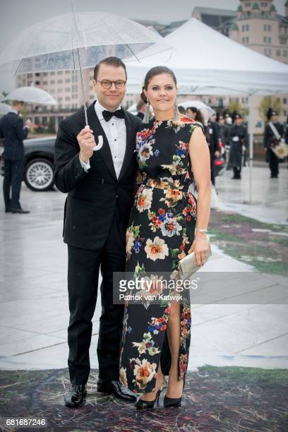 Crown Princess Victoria and Prince Daniel of Sweden arrive at the Opera House on the ocassion of the celebration of King Harald and Queen Sonja of...