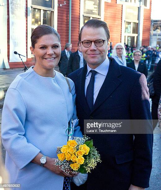 Crown Princess Victoria and Prince Daniel Visit the Varmlandon on November 18 2015 in Varmland Sweden