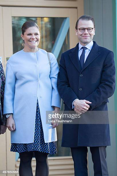Crown Princess Victoria and Prince Daniel Visit Varmland on November 18 2015 in Varmland Sweden