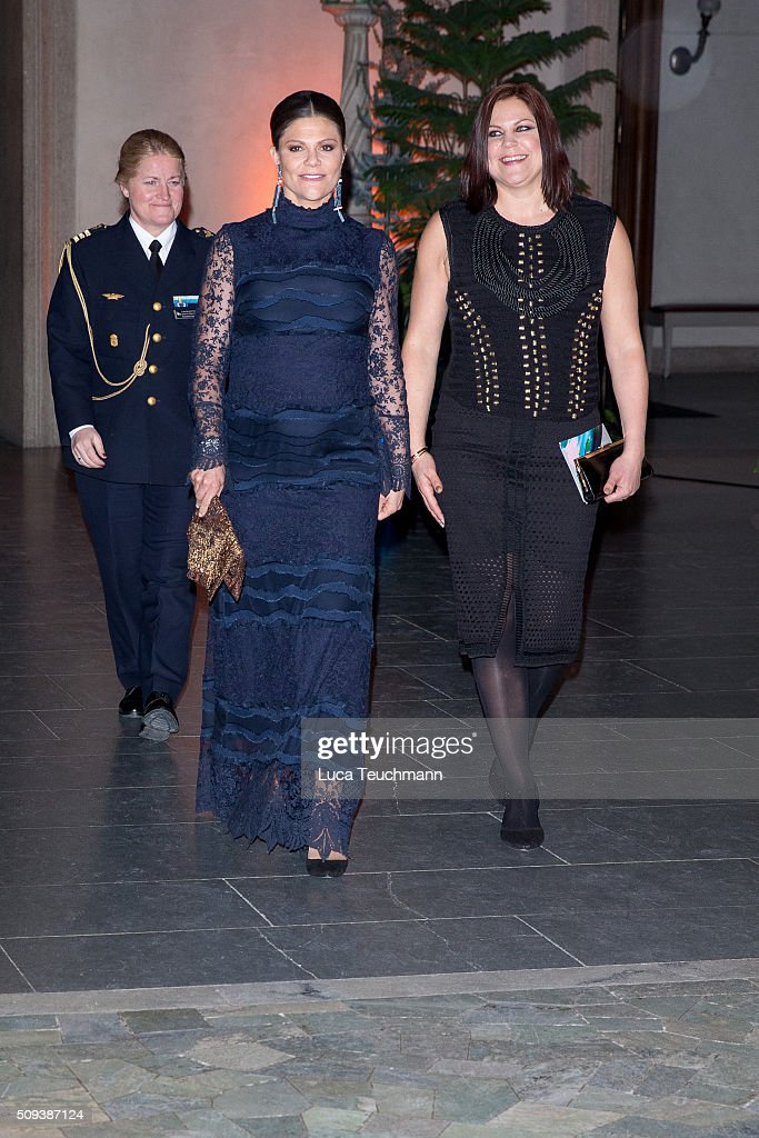 <a gi-track='captionPersonalityLinkClicked' href=/galleries/search?phrase=Crown+Princess+Victoria+of+Sweden&family=editorial&specificpeople=160266 ng-click='$event.stopPropagation()'>Crown Princess Victoria of Sweden</a> and Diana Armin attend Global Change Award 2016 at the Stockholm city hall on February 10, 2016 in Stockholm, Sweden.