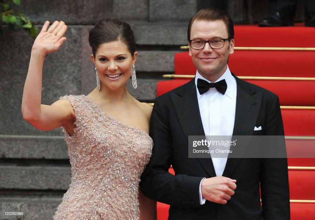 Crown Princess Victoria of Sweden and fiance Daniel Westling attend the Government Gala Performance for the Wedding of Crown Princess Victoria of Sweden and Daniel Westling at Stockholm Concert Hall on June 18, 2010 in Stockholm, Sweden.