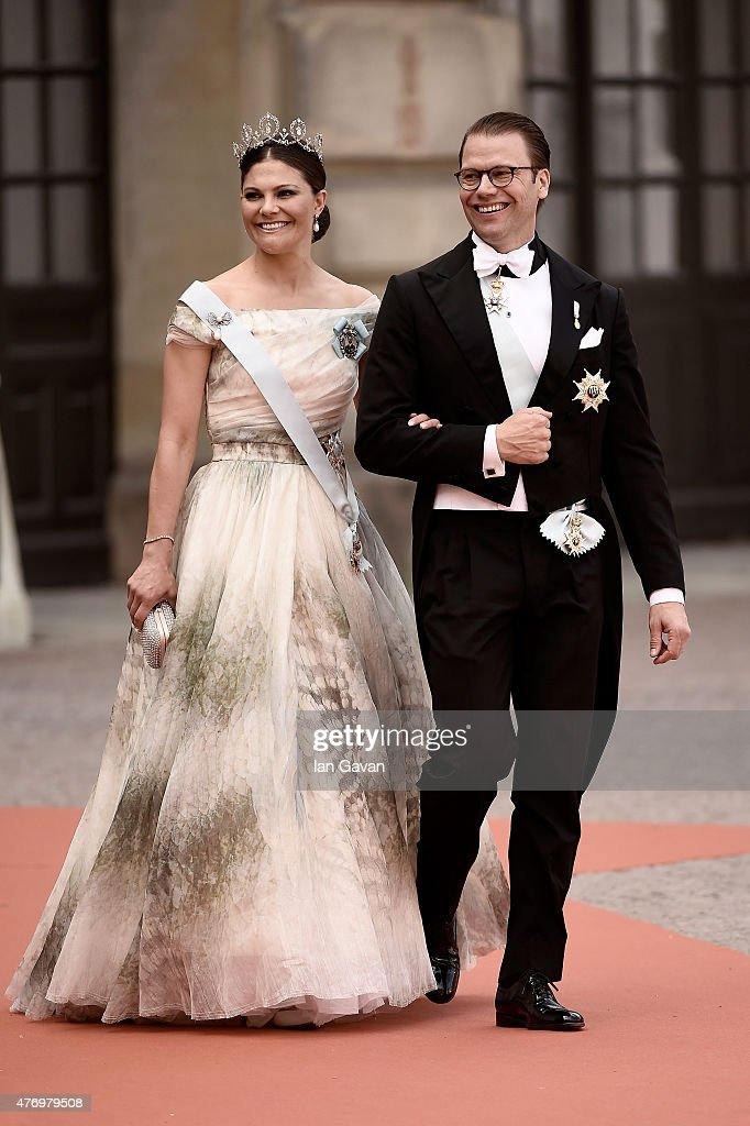 <a gi-track='captionPersonalityLinkClicked' href=/galleries/search?phrase=Crown+Princess+Victoria+of+Sweden&family=editorial&specificpeople=160266 ng-click='$event.stopPropagation()'>Crown Princess Victoria of Sweden</a> and her husband Prince Daniel of Sweden attend the royal wedding of Prince Carl Philip of Sweden and Sofia Hellqvist at The Royal Palace on June 13, 2015 in Stockholm, Sweden.