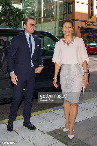 Crown Princess Victoria of Sweden and Prince Daniel attend 'Never Mind the Gap' Seminar on September 4 2014 in Stockholm Sweden