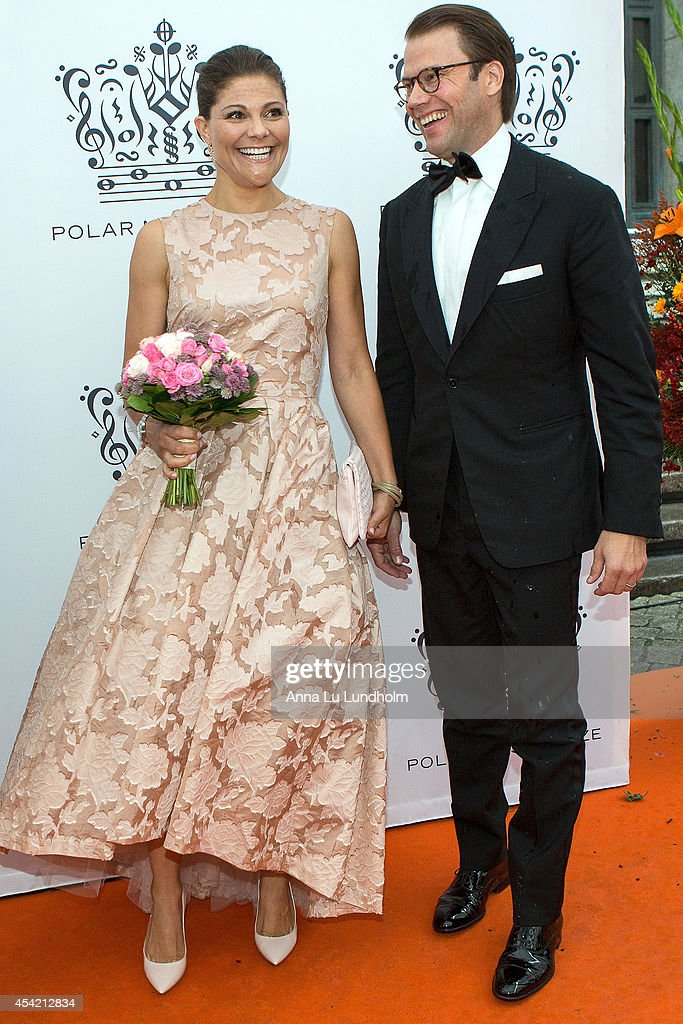 Crown Princess Victoria of Sweden and Prince Daniel attend Polar Music Prize at Stockholm Concert Hall on August 26, 2014 in Stockholm, Sweden.