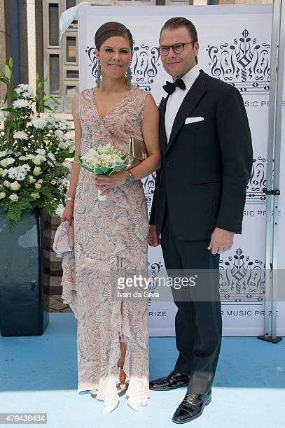 Crown princess Victoria of Sweden and Prince Daniel attend Polar Music Prize at Stockholm Concert Hall on June 9 2015 in Stockholm Sweden