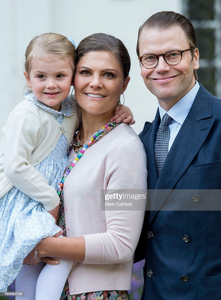 <a gi-track='captionPersonalityLinkClicked' href=/galleries/search?phrase=Crown+Princess+Victoria+of+Sweden&family=editorial&specificpeople=160266 ng-click='$event.stopPropagation()'>Crown Princess Victoria of Sweden</a> and Prince Daniel, Duke of Vastergotland with <a gi-track='captionPersonalityLinkClicked' href=/galleries/search?phrase=Princess+Estelle&family=editorial&specificpeople=8948207 ng-click='$event.stopPropagation()'>Princess Estelle</a> of Sweden at the 38th birthday celebrations for Crown Princess Victoria at Solliden on July 14, 2015 in Oland, Sweden.