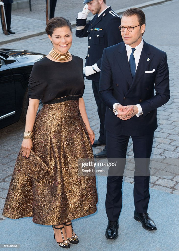 <a gi-track='captionPersonalityLinkClicked' href=/galleries/search?phrase=Crown+Princess+Victoria+of+Sweden&family=editorial&specificpeople=160266 ng-click='$event.stopPropagation()'>Crown Princess Victoria of Sweden</a> and Prince Daniel of Sweden arrive at the Nordic Museum to attend a concert of the Royal Swedish Opera and Stockholm Concert Hall to celebrate the 70th birthday of King Carl Gustaf of Sweden on April 29, 2016 in Stockholm, Sweden.