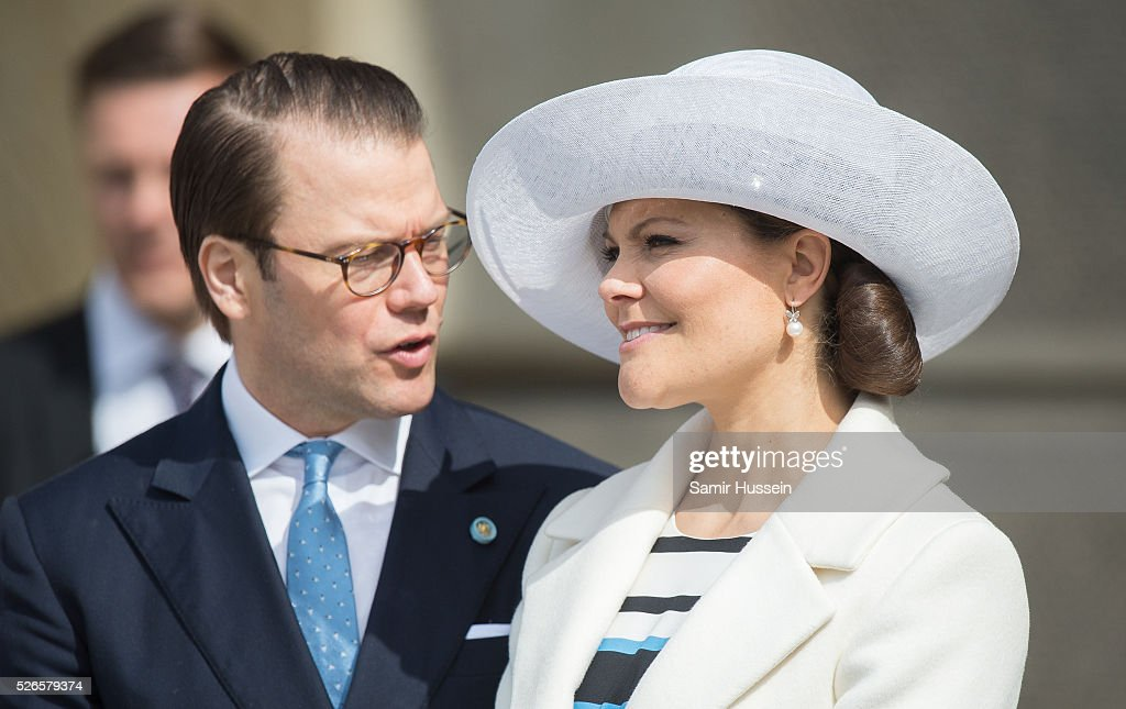 Crown Princess Victoria of Sweden and Prince Daniel of Sweden attend the celebrations of the Swedish Armed Forces for the 70th birthday of King Carl Gustaf of Sweden on April 30, 2016 in Stockholm, Sweden.