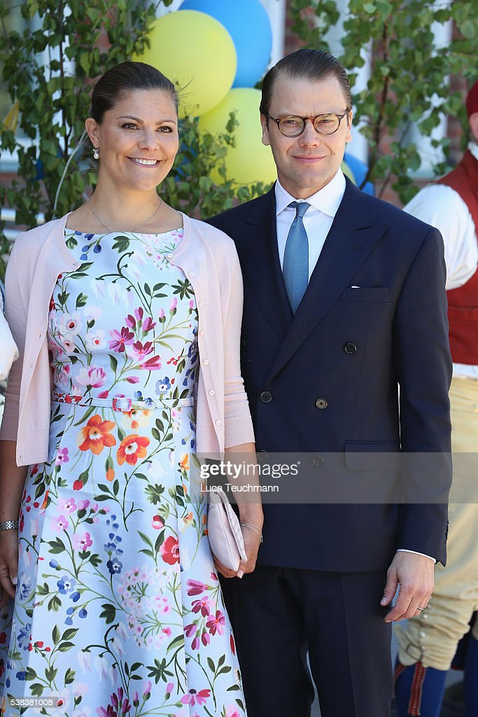 Crown Princess Victoria of Sweden and Prince Daniel of Sweden attend the National Day Celebrations on June 6, 2016 in Stockholm, Sweden.