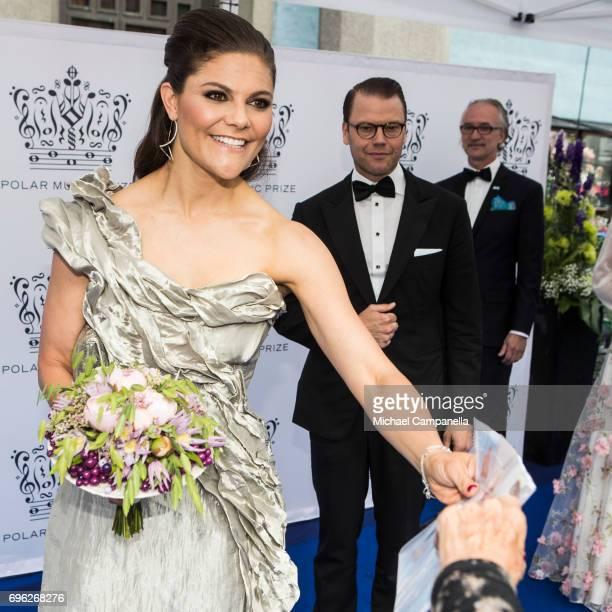 Crown Princess Victoria of Sweden and Prince Daniel of Sweden attend Polar Music Prize on June 15 2017 in Stockholm Sweden