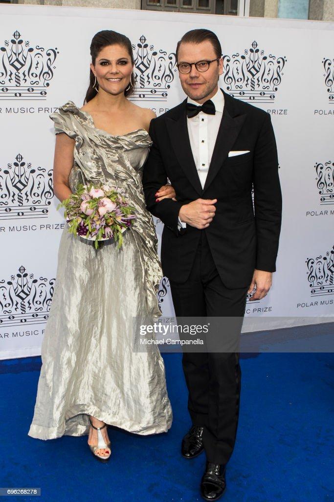 Crown Princess Victoria of Sweden and Prince Daniel of Sweden attend Polar Music Prize on June 15, 2017 in Stockholm, Sweden.