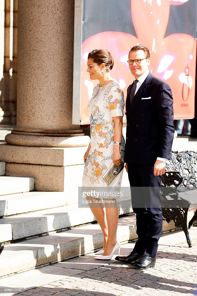 <a gi-track='captionPersonalityLinkClicked' href=/galleries/search?phrase=Crown+Princess+Victoria+of+Sweden&family=editorial&specificpeople=160266 ng-click='$event.stopPropagation()'>Crown Princess Victoria of Sweden</a> and Prince Daniel of Sweden attends Royal Artistic Academies Arrivals at the Royal Operaon April 29, 2016 in Stockholm, .