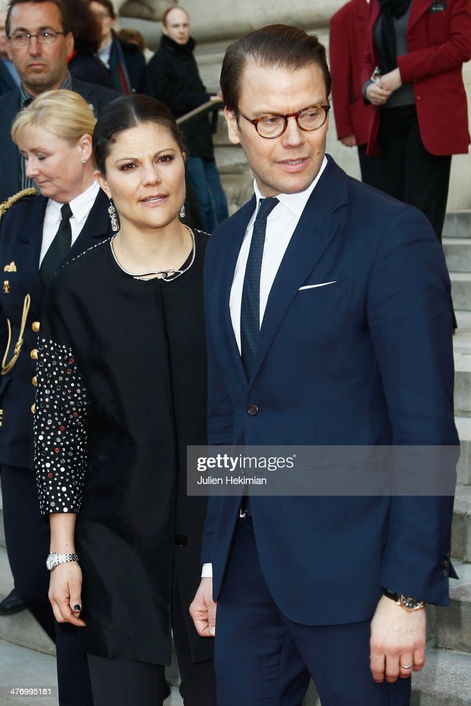 <a gi-track='captionPersonalityLinkClicked' href=/galleries/search?phrase=Crown+Princess+Victoria+of+Sweden&family=editorial&specificpeople=160266 ng-click='$event.stopPropagation()'>Crown Princess Victoria of Sweden</a> and Prince Daniel of Sweden leave Le Petit Palais after visiting the Carl Larsson exhibition on March 6, 2014 in Paris, France.