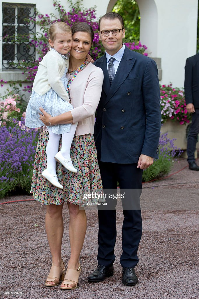 <a gi-track='captionPersonalityLinkClicked' href=/galleries/search?phrase=Crown+Princess+Victoria+of+Sweden&family=editorial&specificpeople=160266 ng-click='$event.stopPropagation()'>Crown Princess Victoria of Sweden</a>, and Prince Daniel of Sweden,with Princess Estelle of Sweden, attend the Celebration for The <a gi-track='captionPersonalityLinkClicked' href=/galleries/search?phrase=Crown+Princess+Victoria+of+Sweden&family=editorial&specificpeople=160266 ng-click='$event.stopPropagation()'>Crown Princess Victoria of Sweden</a>'s 38th Birthday at Solliden Palace, on July 14th, 2015 in Borgholm, Sweden.