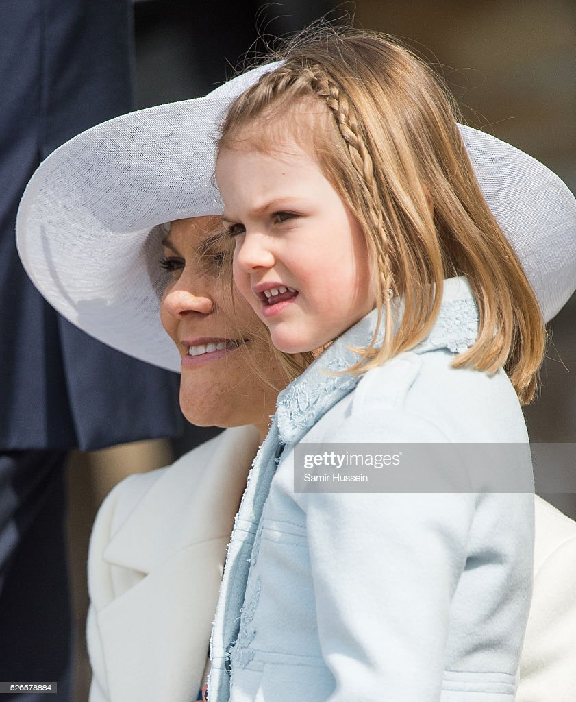 <a gi-track='captionPersonalityLinkClicked' href=/galleries/search?phrase=Crown+Princess+Victoria+of+Sweden&family=editorial&specificpeople=160266 ng-click='$event.stopPropagation()'>Crown Princess Victoria of Sweden</a> and <a gi-track='captionPersonalityLinkClicked' href=/galleries/search?phrase=Princess+Estelle&family=editorial&specificpeople=8948207 ng-click='$event.stopPropagation()'>Princess Estelle</a> of Sweden attend the celebrations of the Swedish Armed Forces for the 70th birthday of King Carl Gustaf of Sweden on April 30, 2016 in Stockholm, Sweden.