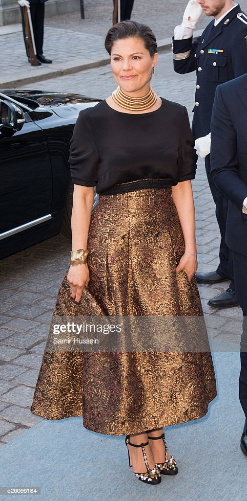 <a gi-track='captionPersonalityLinkClicked' href=/galleries/search?phrase=Crown+Princess+Victoria+of+Sweden&family=editorial&specificpeople=160266 ng-click='$event.stopPropagation()'>Crown Princess Victoria of Sweden</a> arrives at the Nordic Museum to attend a concert of the Royal Swedish Opera and Stockholm Concert Hall to celebrate the 70th birthday of King Carl Gustaf of Sweden on April 29, 2016 in Stockholm, Sweden.
