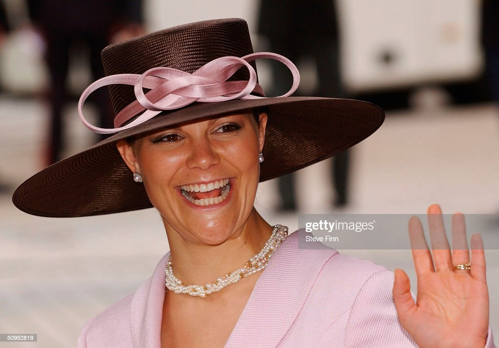 Crown Princess Victoria Of Sweden arrives for the Christening of baby girl Catharina-Amalia, daughter of Dutch Crown Prince Willem Alexander and Princess Maxima at the Hague on June 12, 2004 in Amsterdam, The Netherlands. Her parents announced the birth of their daughter Princess Amalia - who is the heir to the Dutch throne - on December 7, 2003.