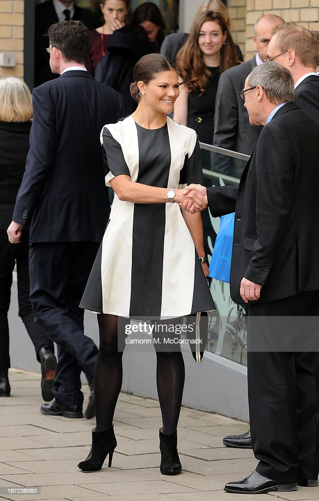 <a gi-track='captionPersonalityLinkClicked' href=/galleries/search?phrase=Crown+Princess+Victoria+of+Sweden&family=editorial&specificpeople=160266 ng-click='$event.stopPropagation()'>Crown Princess Victoria of Sweden</a> at Hackney Community College during an official visit to London on November 7, 2013 in London, England.