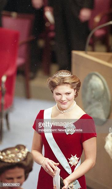 Crown Princess Victoria of Sweden at the Nobel Award Ceremony