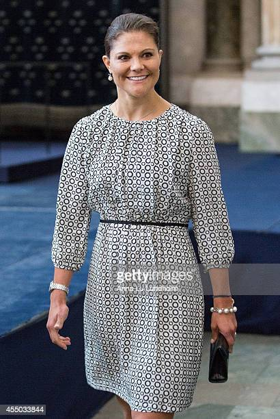 Crown Princess Victoria of Sweden attend Kammarkollegiet's 475th Anniversary Celebrations at the Hall of State in the Royal Palace on September 9...