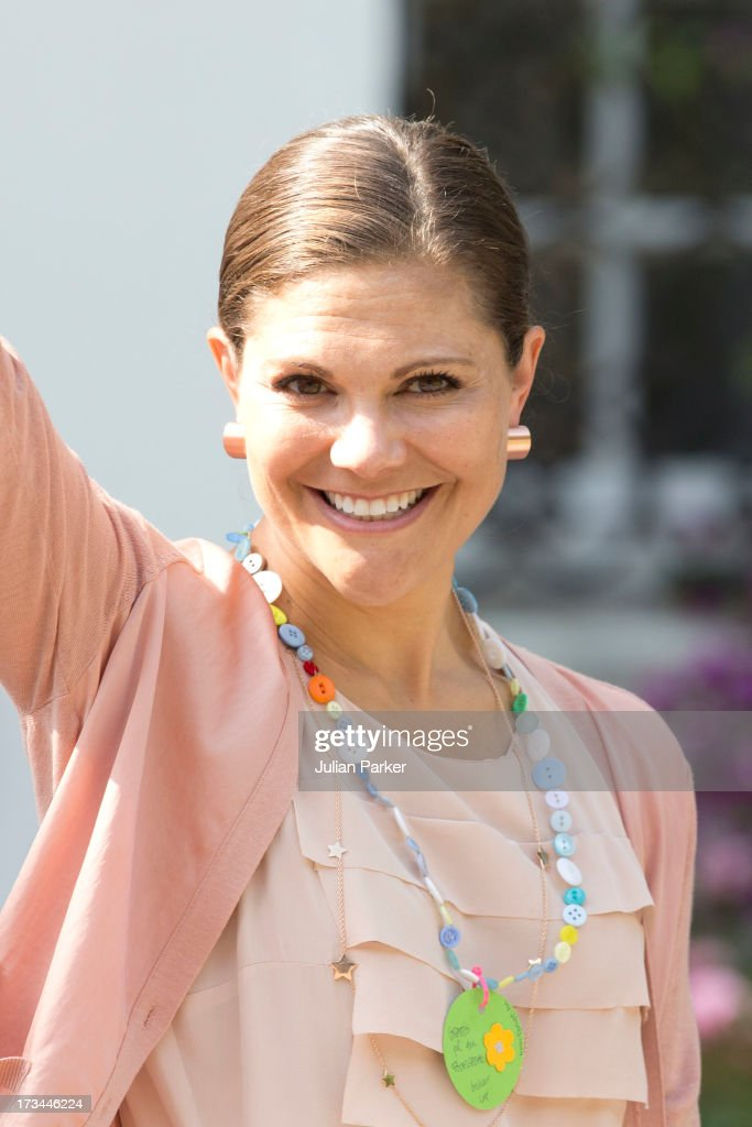 Crown Princess Victoria of Sweden, attend the Victoria Day celebrations, on her 36th Birthday, at Solliden on July 14, 2013 in Borgholm, Sweden.