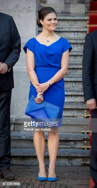 Crown Princess Victoria of Sweden attends 20th anniversary of the Organisation for the Prohibition of Chemical Weapons in the Ridderzaal on April 26...