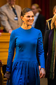 Crown Princess Victoria Of Sweden Attends A Seminar In...