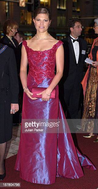 Crown Princess Victoria Of Sweden Attends A 'Stylish Gala Dinner' At The Sydney Town Hall During Her Visit Taking Part In 'Swedish Style In Australia'