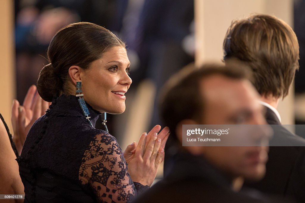 Crown Princess Victoria of Sweden attends Global Change Award 2016 at the Stockholm city hall on February 10, 2016 in Stockholm, Sweden.