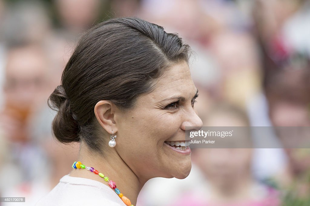 <a gi-track='captionPersonalityLinkClicked' href=/galleries/search?phrase=Crown+Princess+Victoria+of+Sweden&family=editorial&specificpeople=160266 ng-click='$event.stopPropagation()'>Crown Princess Victoria of Sweden</a> attends her 37th Birthday celebrations of, at Solliden, Borgholm on July 14, 2014 in Oland, Sweden.