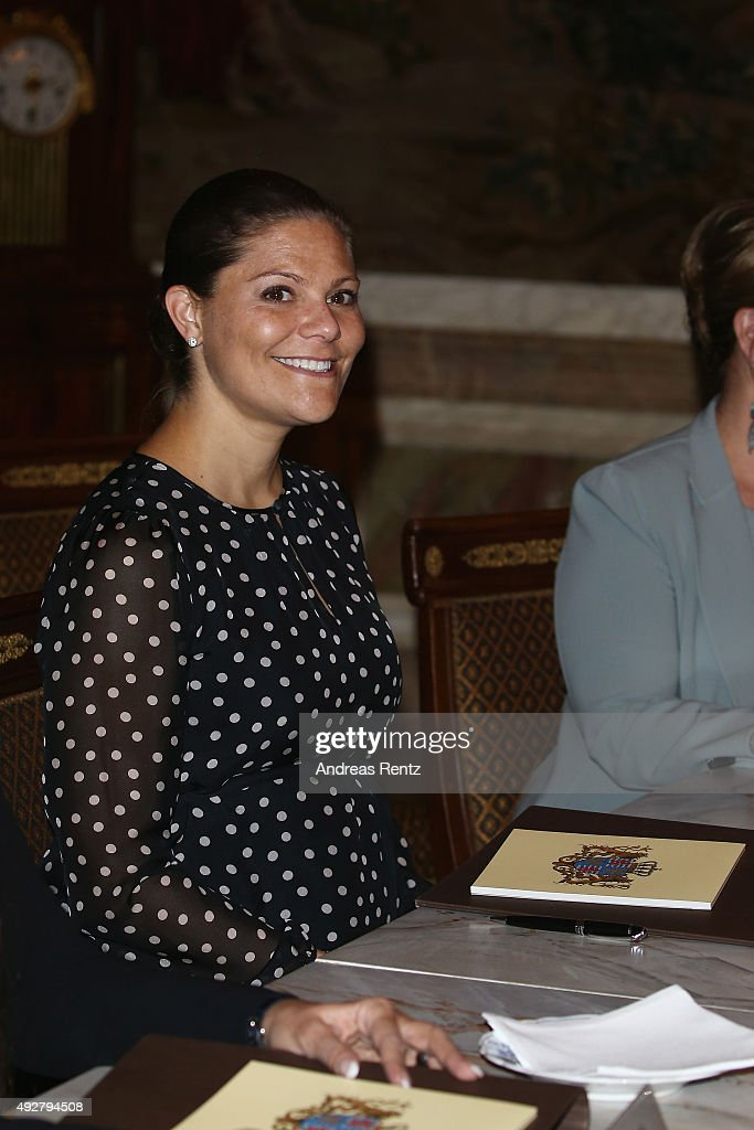 Crown Princess Victoria of Sweden attends the 5th honorary board of the International Paralympic Commitee on October 15, 2015 in Luxembourg, Luxembourg.