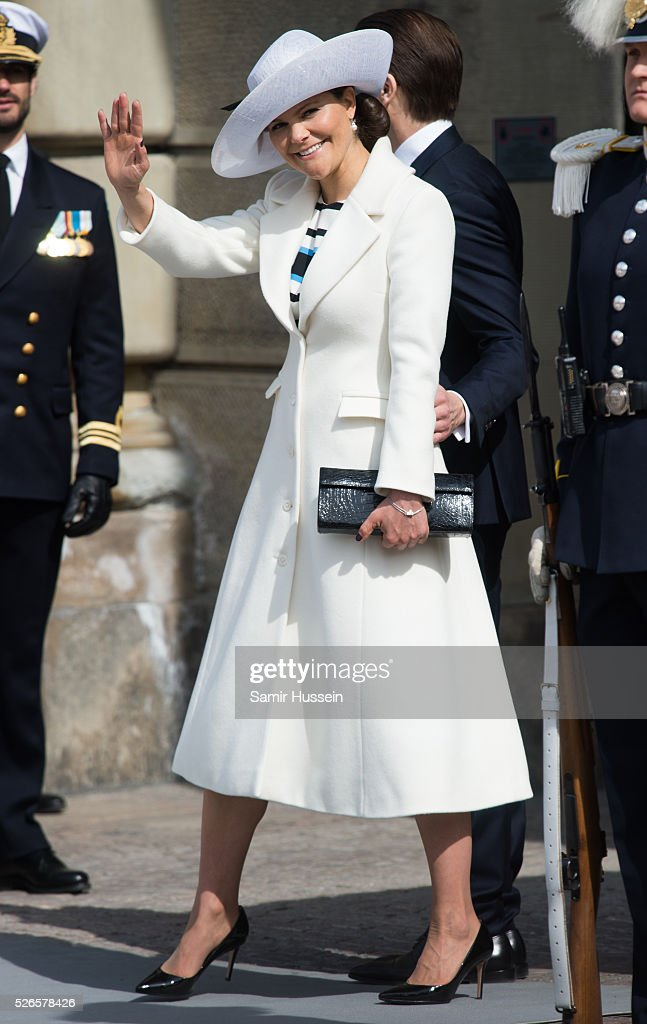 Crown Princess Victoria of Sweden attends the celebrations of the Swedish Armed Forces for the 70th birthday of King Carl Gustaf of Sweden on April 30, 2016 in Stockholm, Sweden.