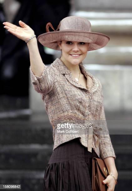 Crown Princess Victoria Of Sweden Attends The Christening Of Crown Prince Frederik Crown Princess Mary Of Denmark'S Son Christian Valdemar Henri John...