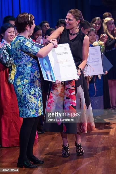 Crown Princess Victoria of Sweden attends the Junior Water Prize Ceremony at Grand Hotel on September 3 2014 in Stockholm Sweden
