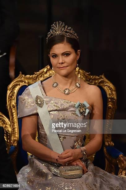 Crown Princess Victoria of Sweden attends the Nobel Prize Awards Ceremony at Concert Hall on December 10 2016 in Stockholm Sweden