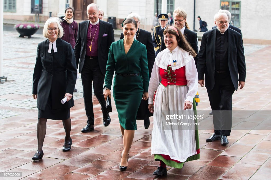 Crown Princess Victoria Attends A Church Opening in Uppsala