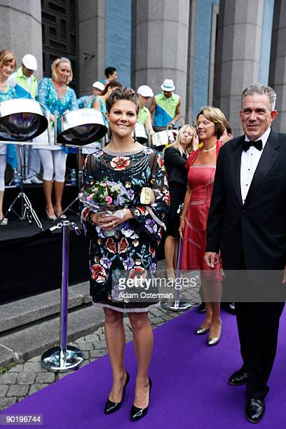 Crown Princess Victoria of Sweden attends the Polar music prize 2009 on August 31 2009 in Stockholm Sweden