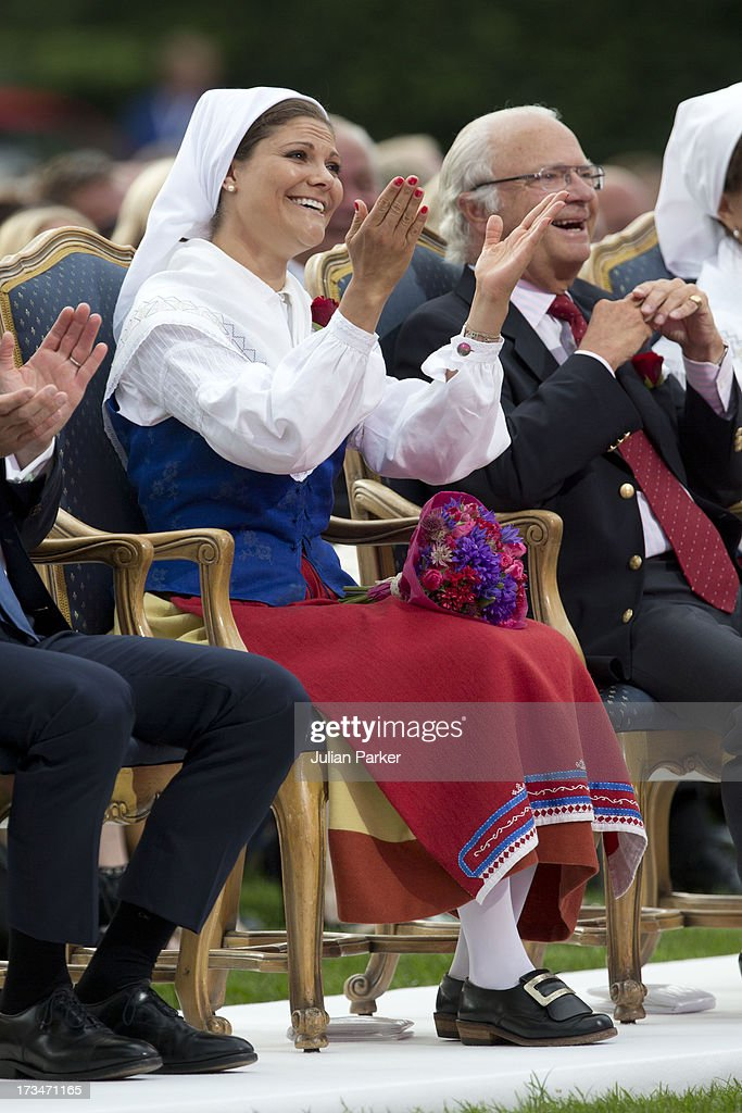 Crown Princess Victoria of Sweden attends The Victoria Day Concert in Borgholm, on her 36th Birthday on July 14, 2013 in Borgholm, Sweden.
