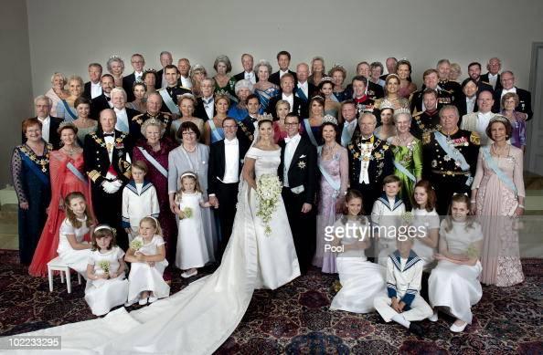 Crown Princess Victoria of Sweden Duchess of Vastergotland her husband Prince Daniel of Sweden Duke of Vastergotland pose after their wedding...